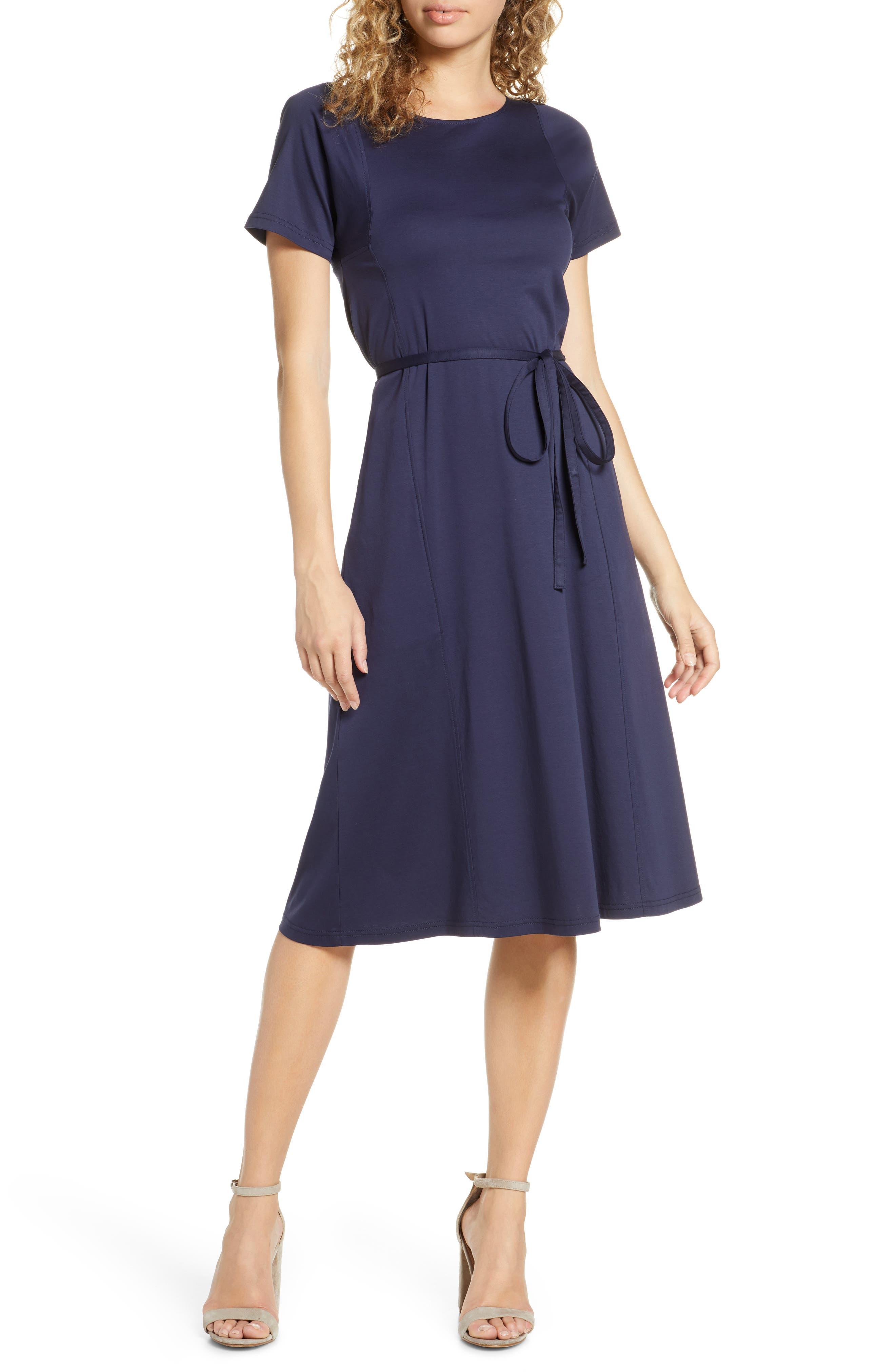 Caara Serra Fit & Flare Dress, Blue
