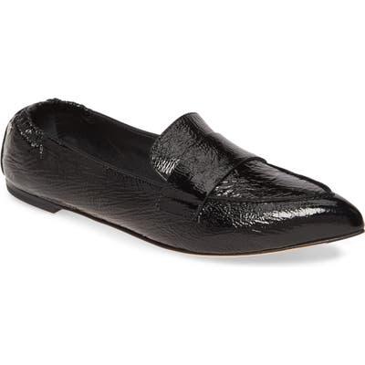 Agl Softy Pointy Toe Moccasin Loafer, Black
