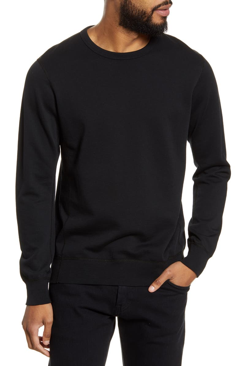 WINGS + HORNS Crewneck Sweatshirt, Main, color, 001