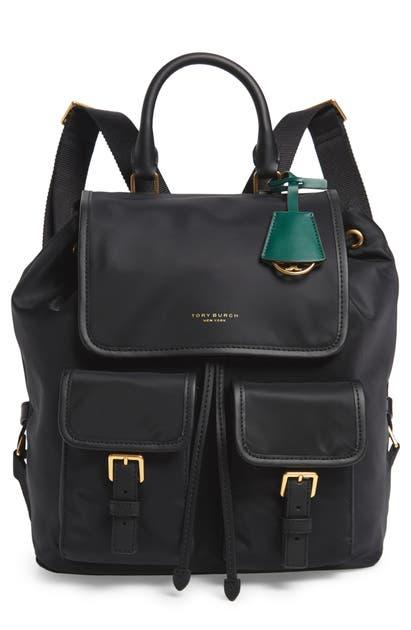 Tory Burch Backpacks PERRY NYLON BACKPACK - BLACK