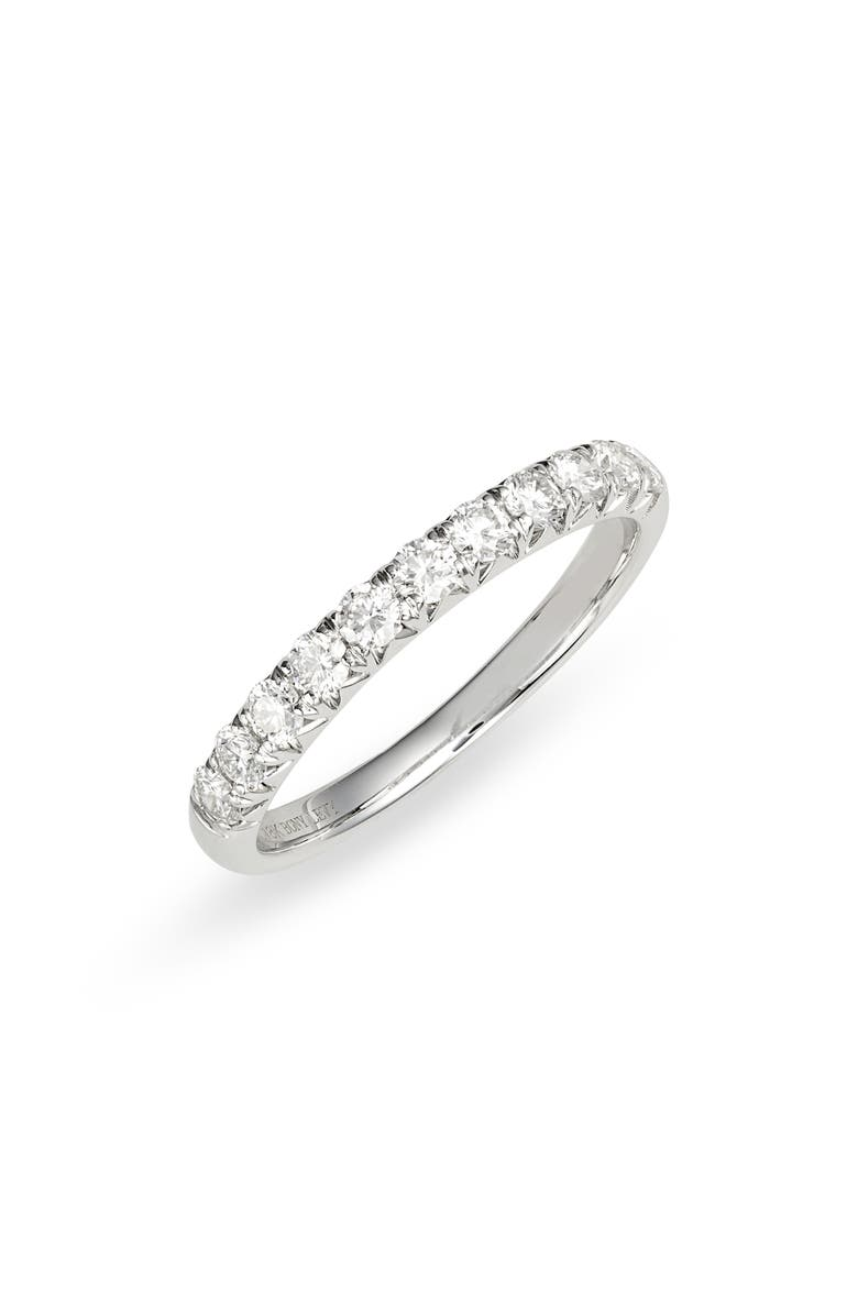 BONY LEVY Audrey Diamond Stacking Band Ring, Main, color, WHITE GOLD/ DIAMOND