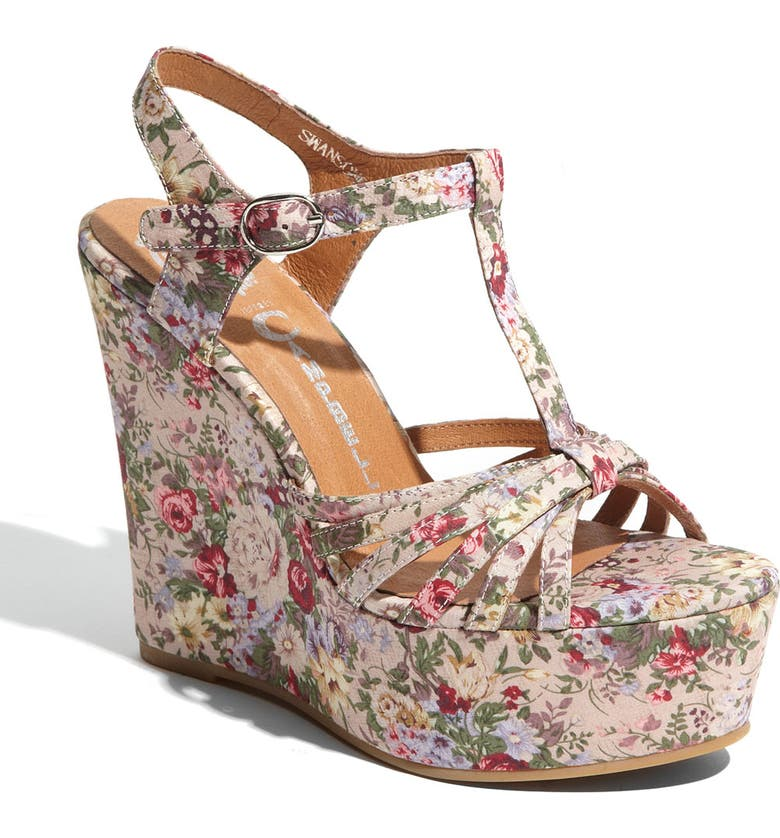 JEFFREY CAMPBELL 'Swansong' Wedge Sandal, Main, color, 284