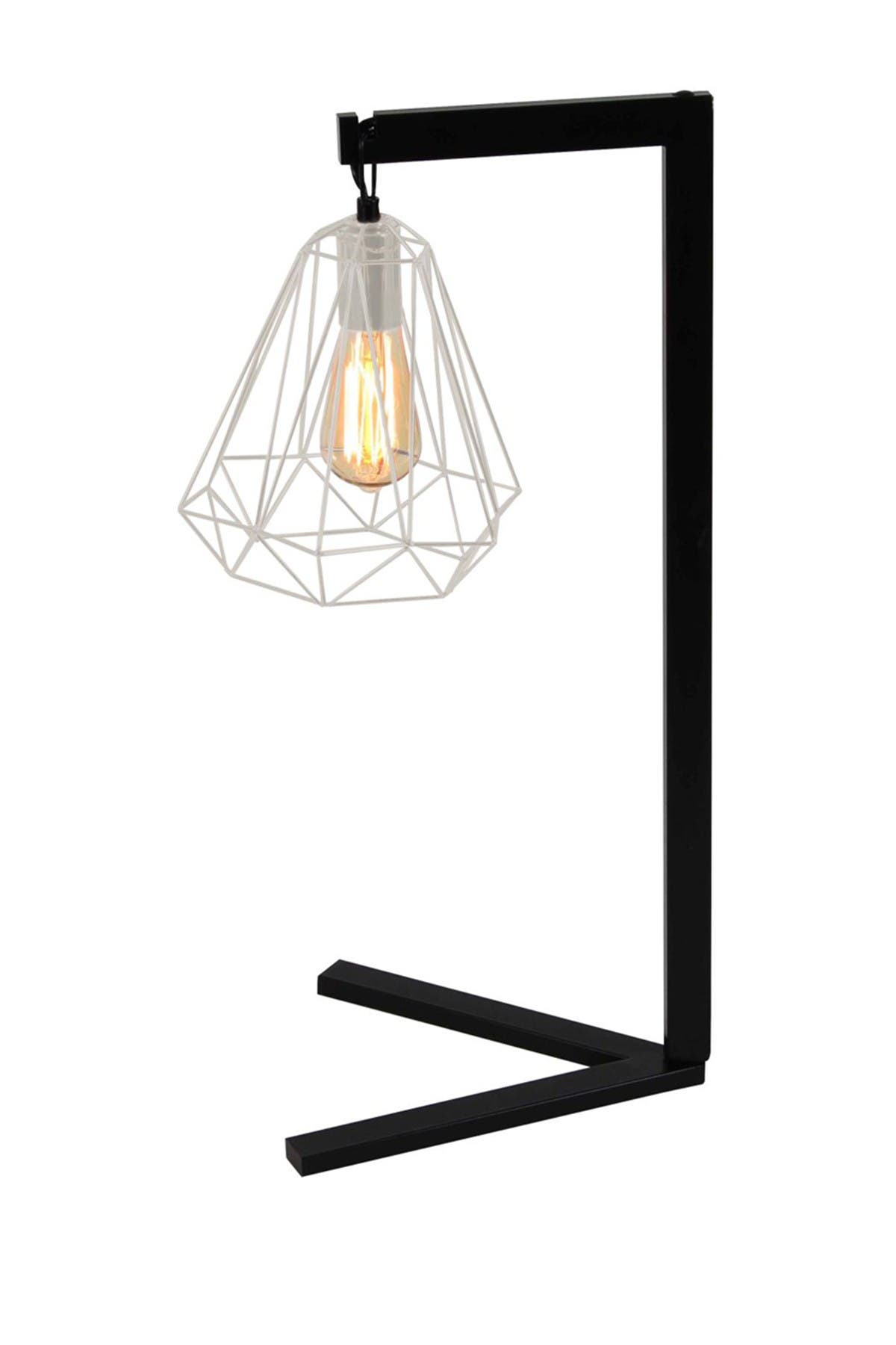 Willow Row Black/Silver Metal Wire Desk Lamp at Nordstrom Rack
