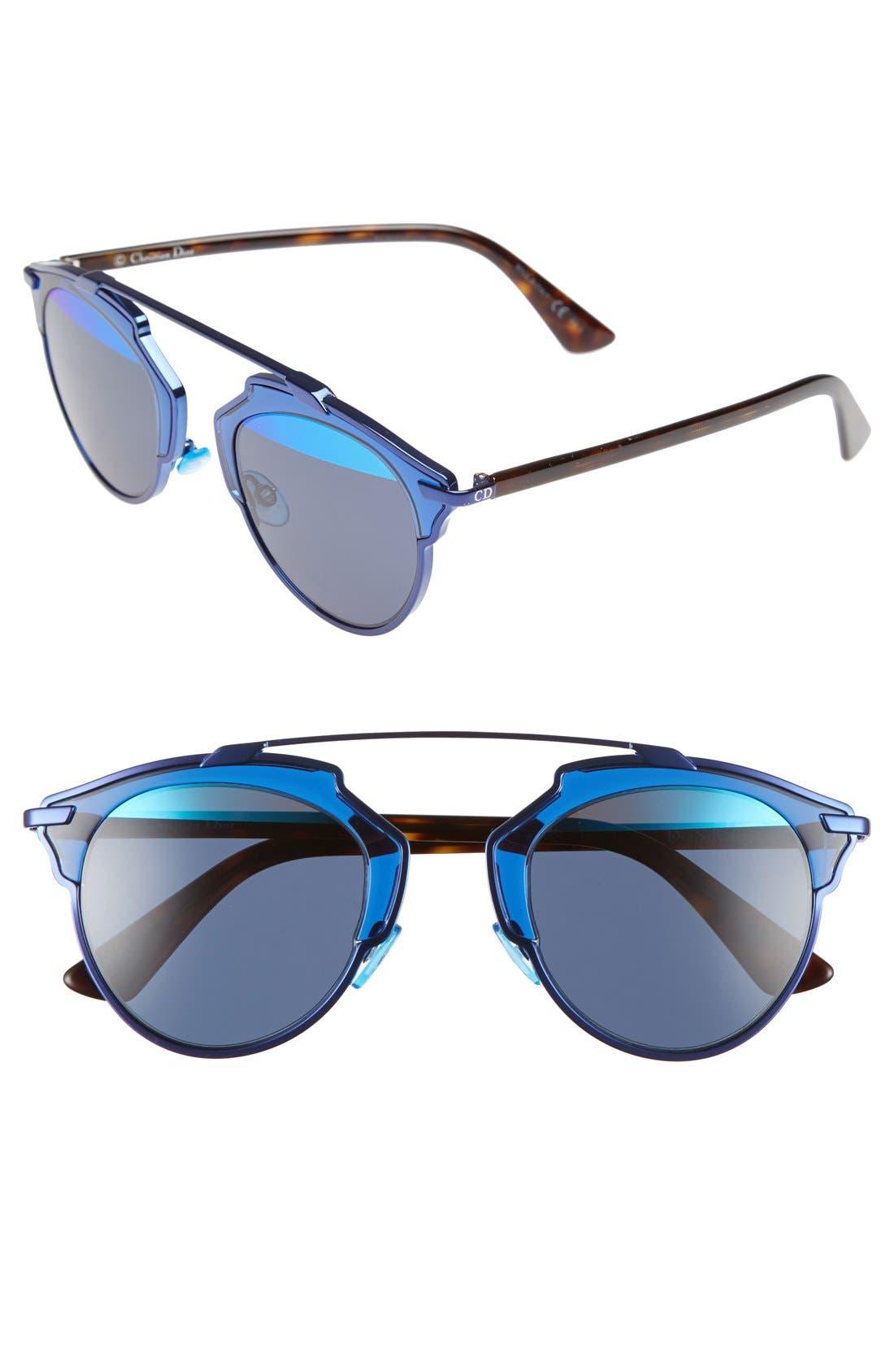 ,                             So Real 48mm Brow Bar Sunglasses,                             Main thumbnail 48, color,                             401
