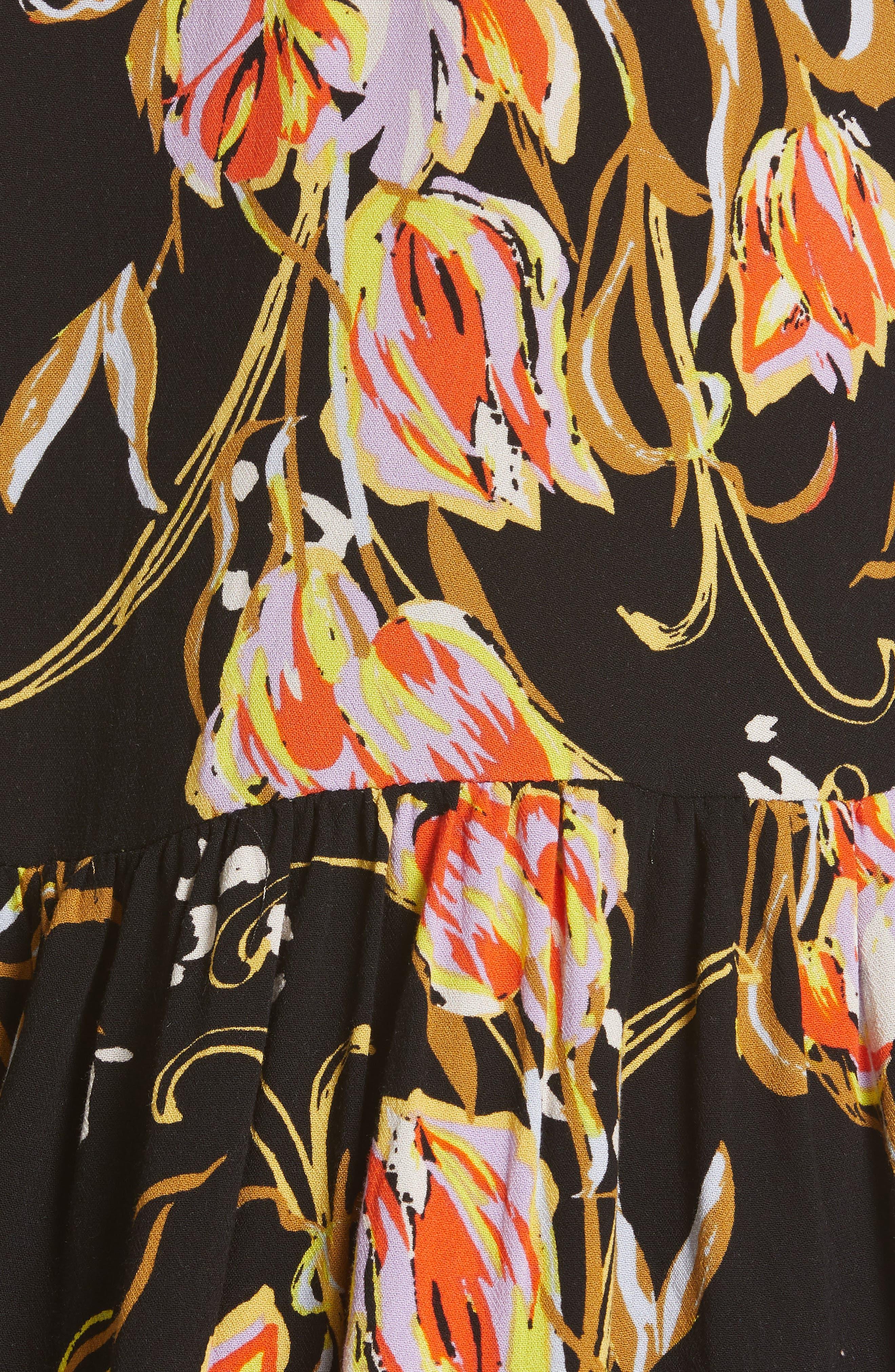 ,                             Bella Print Tunic,                             Alternate thumbnail 5, color,                             BLACK COMBO