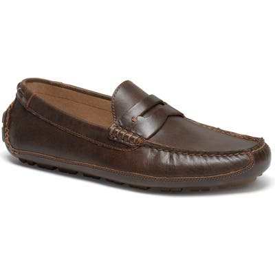 Trask Dawson Water Resistant Driving Loafer- Brown