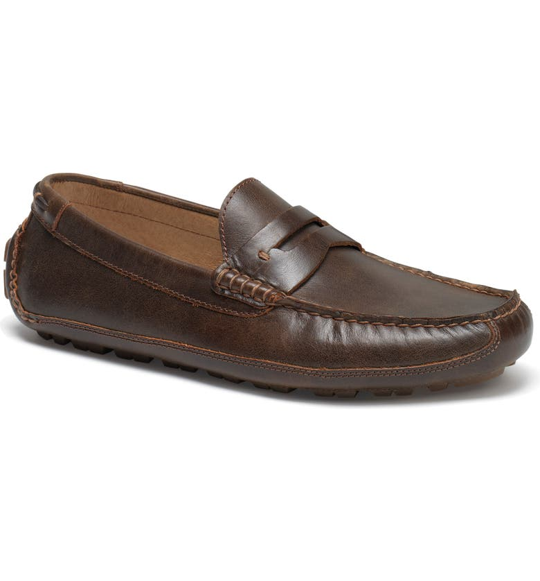 TRASK Dawson Water Resistant Driving Loafer, Main, color, DARK BROWN LEATHER