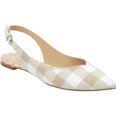 Marc Fisher Ltd Samera Slingback Flat, Beige