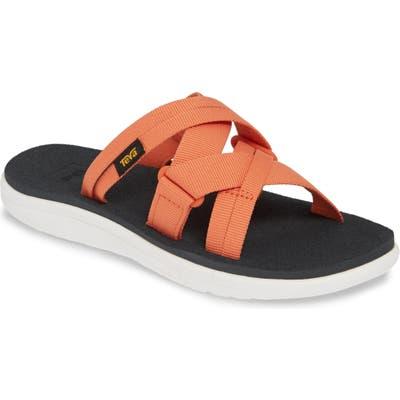 Teva Voya Infinity Water Friendly Slide Sandal, Orange