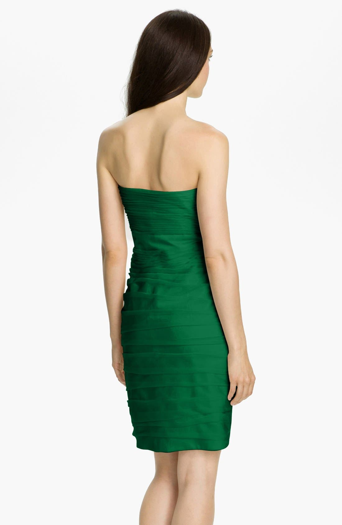 ,                             Ruched Strapless Cationic Chiffon Dress,                             Alternate thumbnail 34, color,                             305