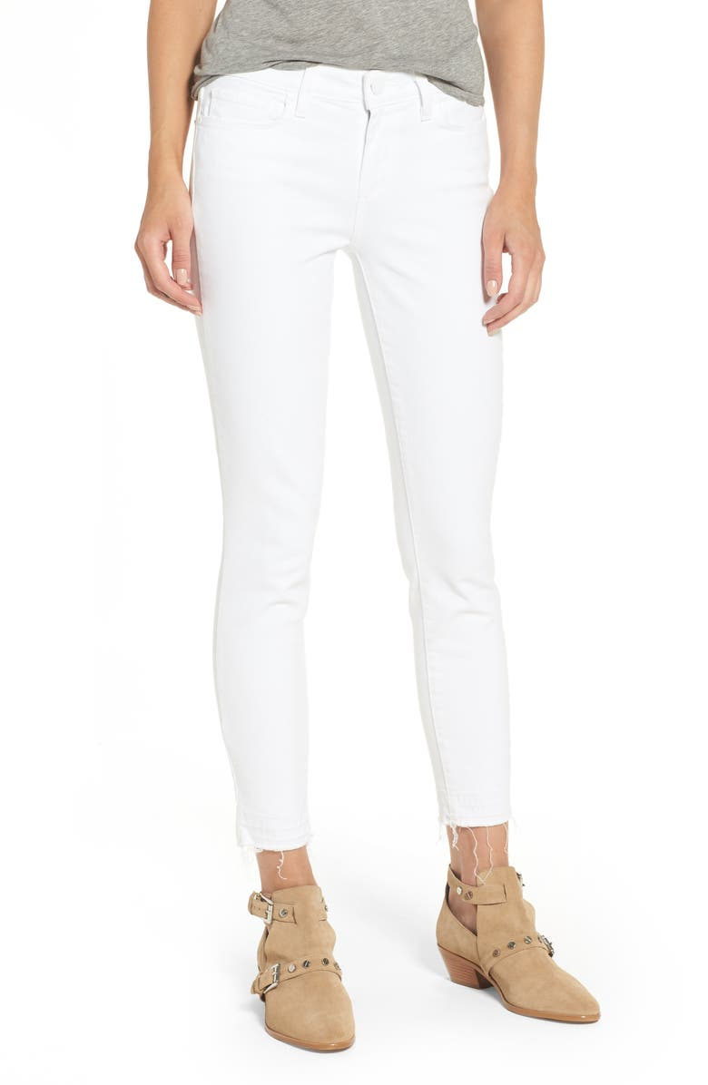 d689bf75532 PAIGE Verdugo Crop Ultra Skinny Jeans (Crisp White) (Nordstrom ...