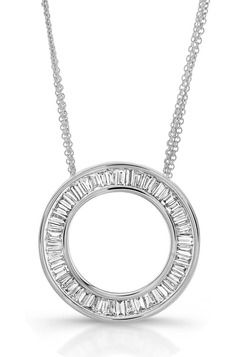 BONY LEVY Circle of Life Large Diamond Pendant Necklace, Main, color, WHITE GOLD