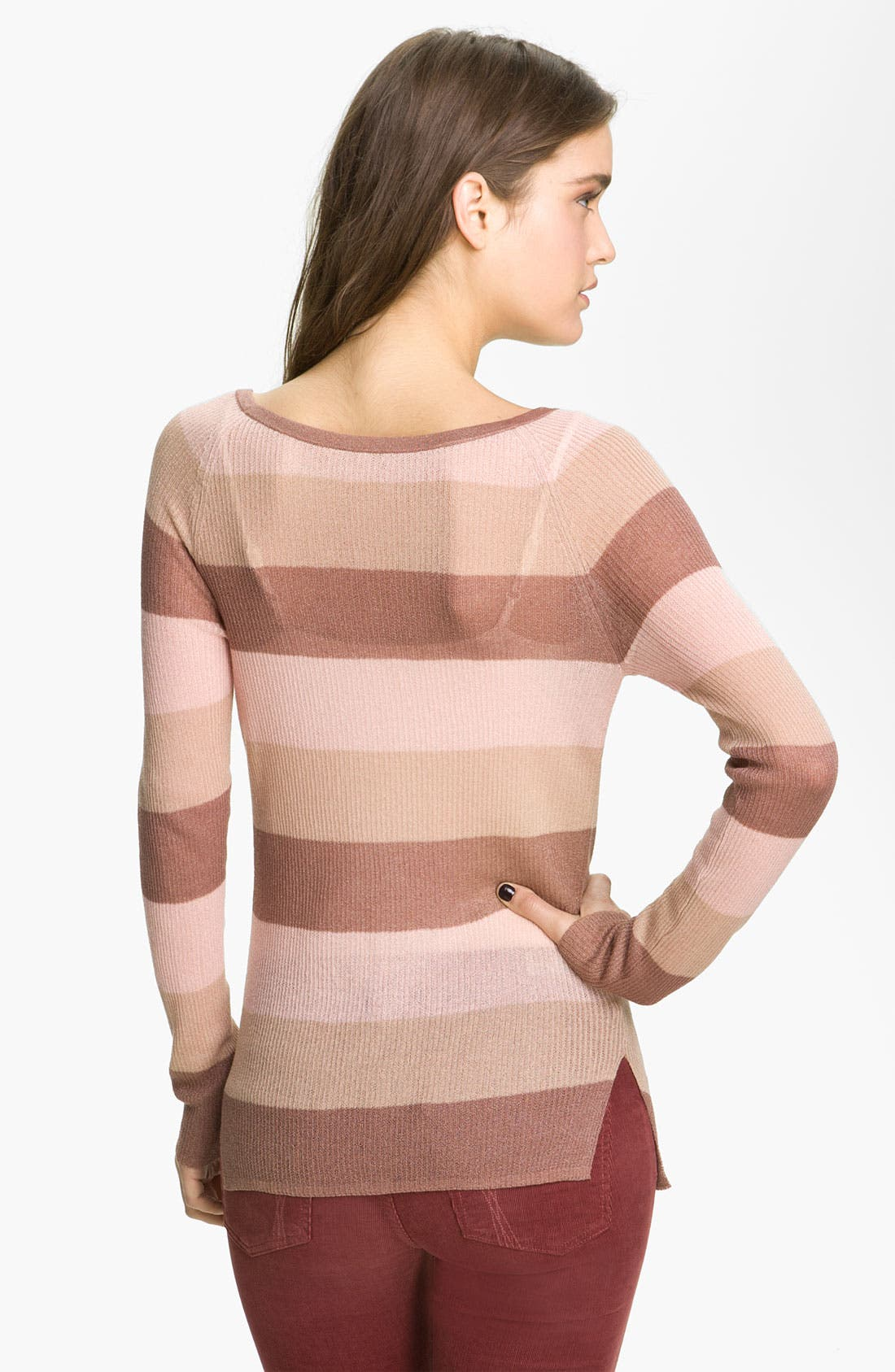 ,                             <sup>®</sup> Stripe Knit Sweater,                             Alternate thumbnail 5, color,                             690
