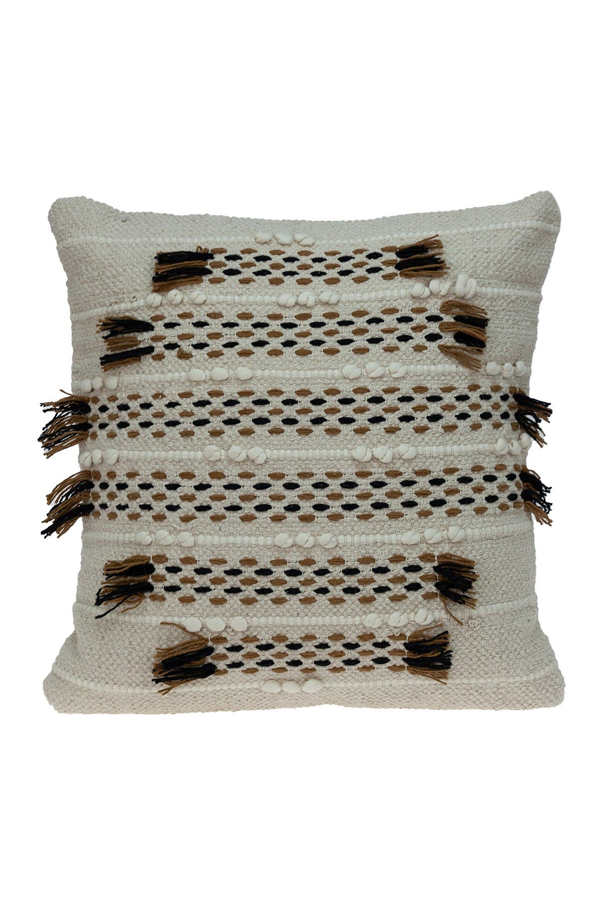 Image of Parkland Collection Jace Transitional Beige Throw Pillow