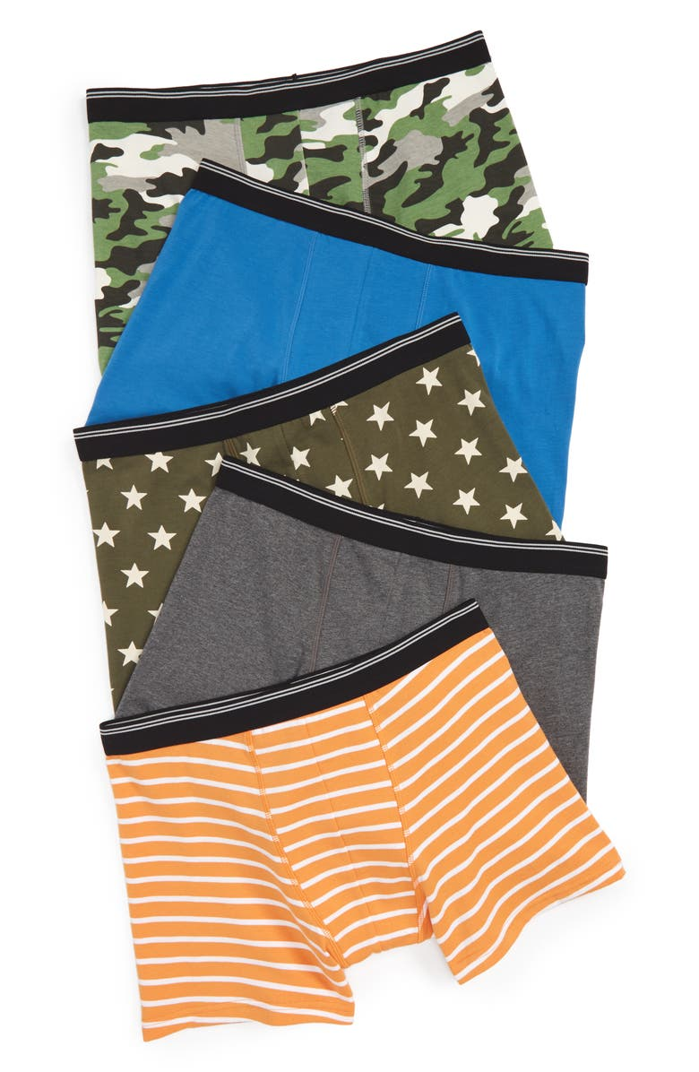 TUCKER + TATE 5-Pack Trunks, Main, color, CAMO PACK