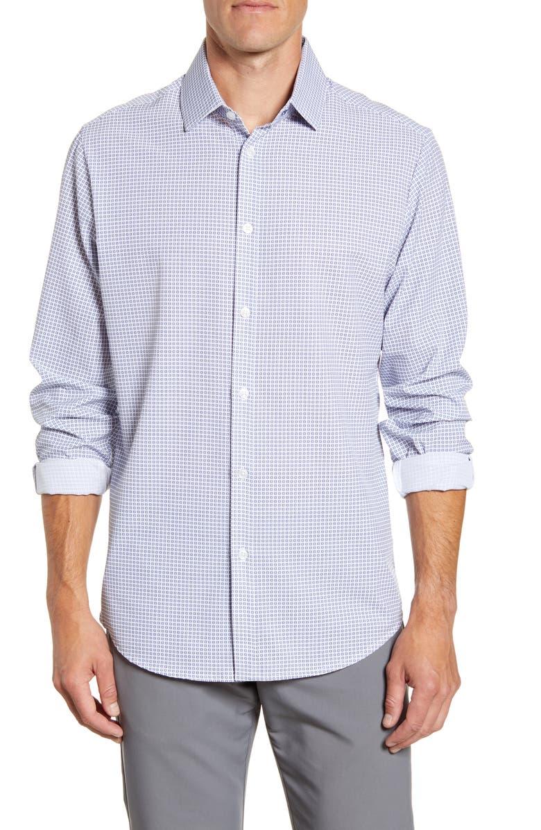 MIZZEN+MAIN Archer Trim Fit Button-Up Shirt, Main, color, 130