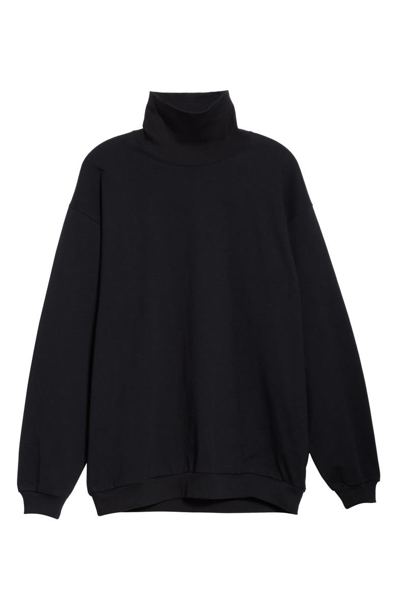 BEAMS Heavyweight Turtleneck, Main, color, BLACK WHITE