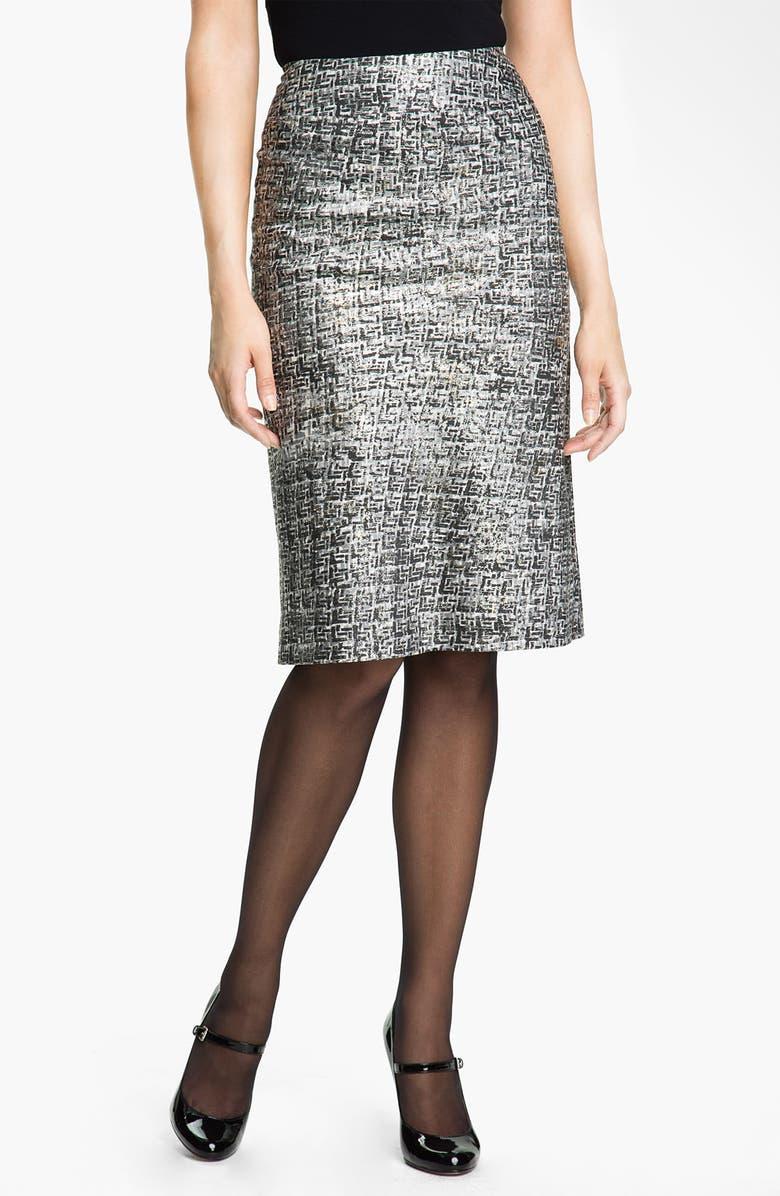 NIC+ZOE Nic + Zoe Glitter Print Pencil Skirt, Main, color, 020