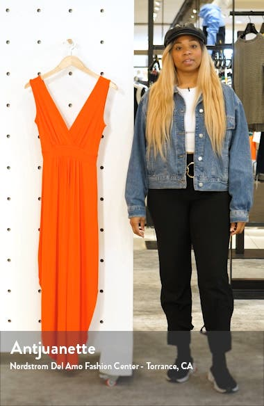 V-Neck Jersey Maxi Dress, sales video thumbnail