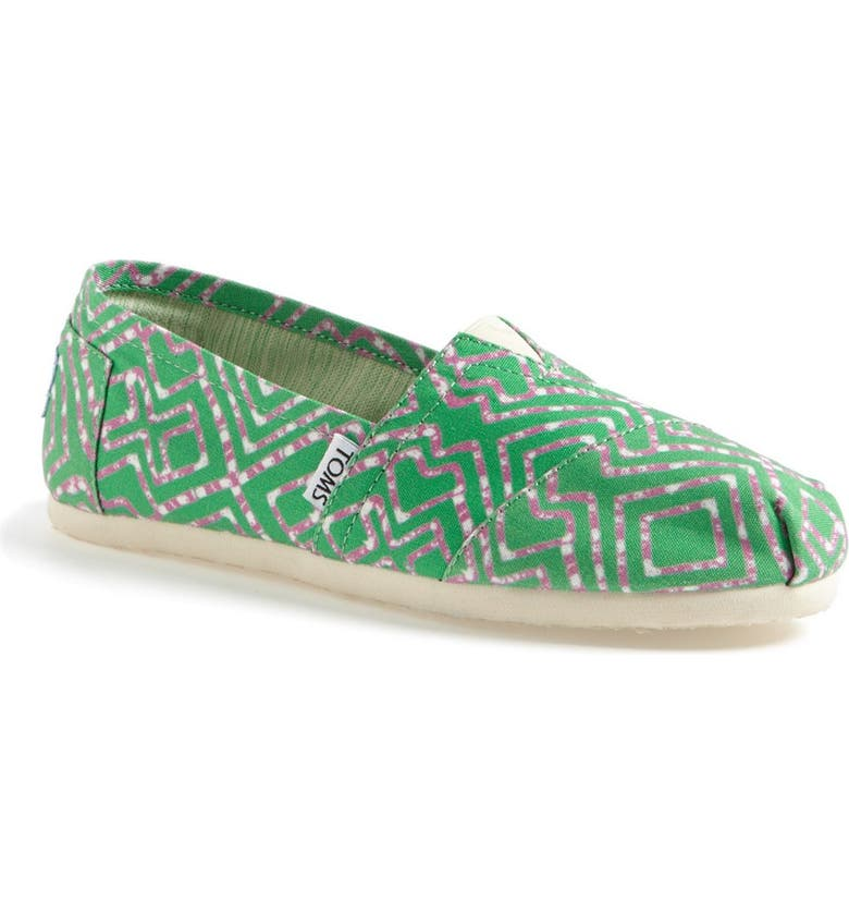 TOMS 'Classic - Geometric Tie Dye' Slip-On, Main, color, 300