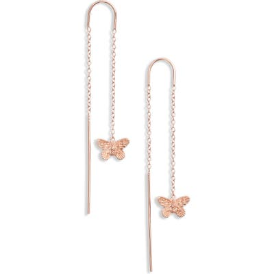 Olivia Burton Butterfly Thread-Through Earrings