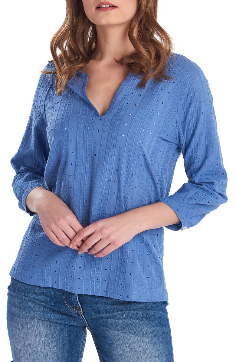 BARBOUR Overboard Top, Main, color, SKYLINE BLUE