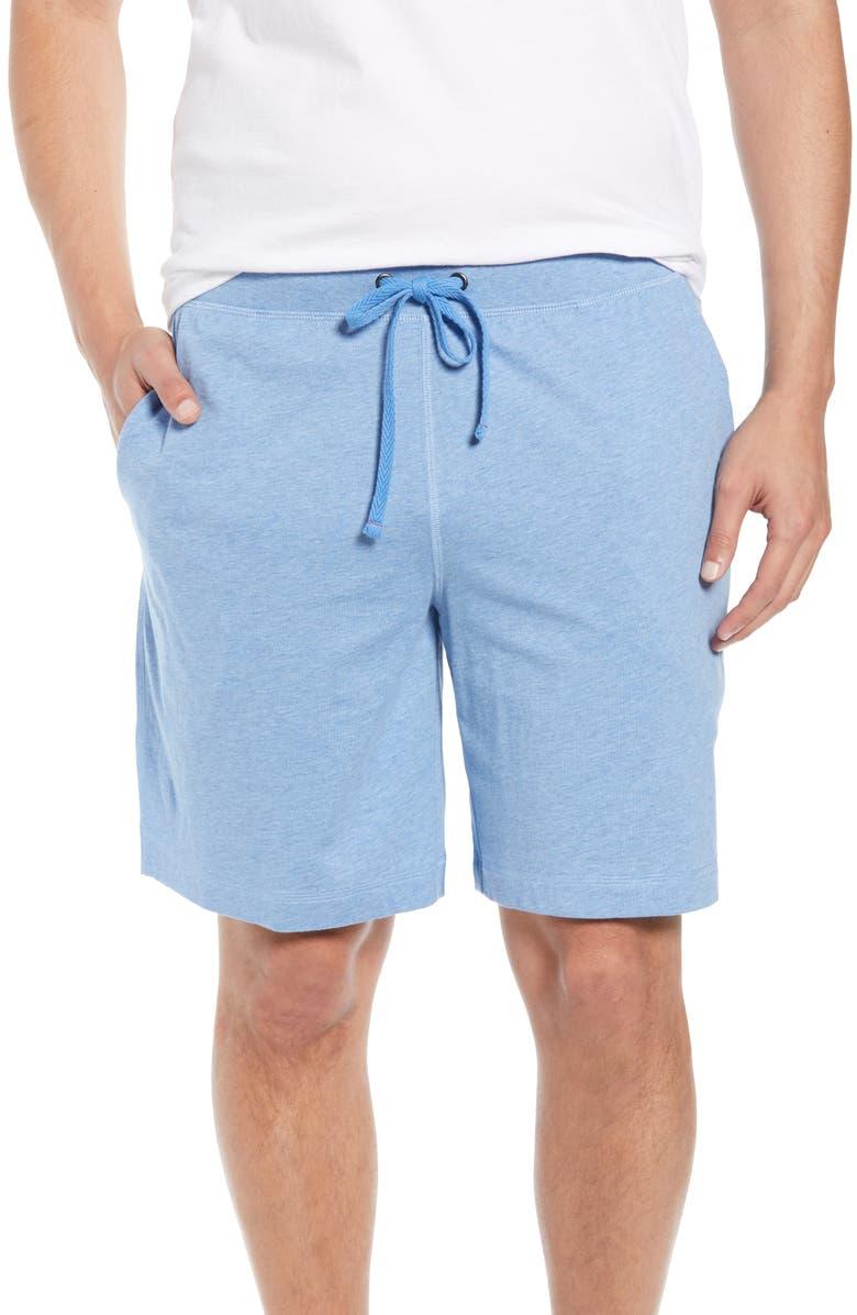 DANIEL BUCHLER Peruvian Pima Cotton Lounge Shorts, Main, color, BLUE HEATHER