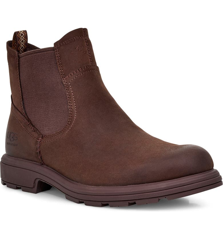 UGG<SUP>®</SUP> Biltmore Waterproof Chelsea Boot, Main, color, STOUT