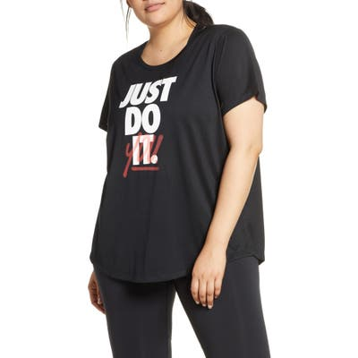 Plus Size Nike Jdi Dri-Fit Graphic Tee, Black