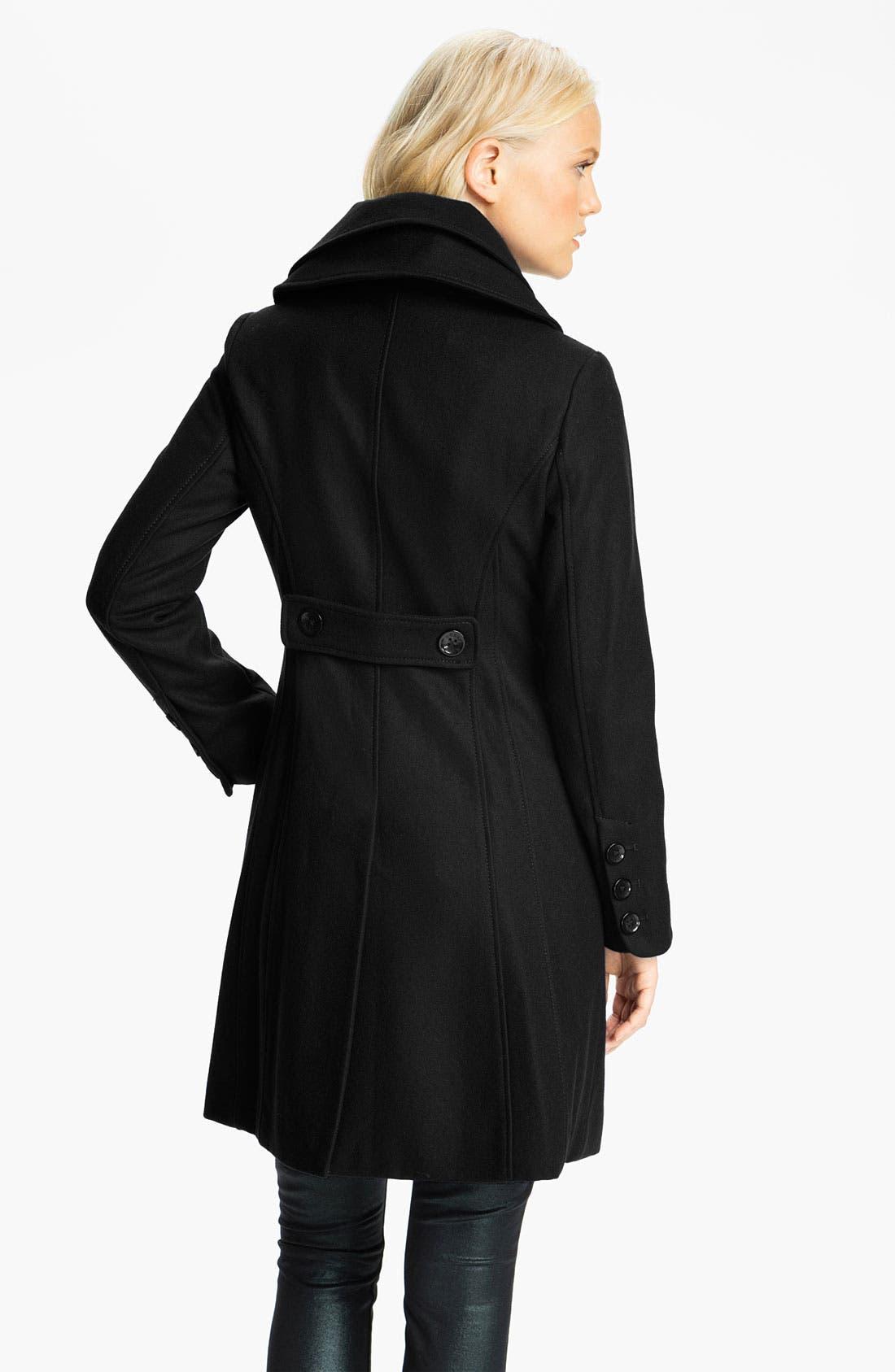 ,                             Double Collar Coat,                             Alternate thumbnail 2, color,                             001