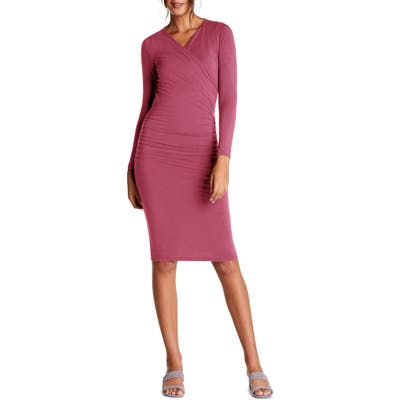 Michael Stars Mikaela Crossover Knit Dress, Pink