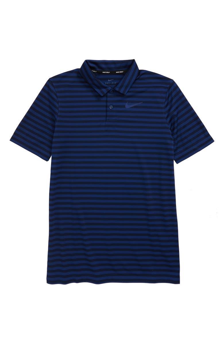 NIKE Dri-FIT Victory Stripe Polo, Main, color, 451