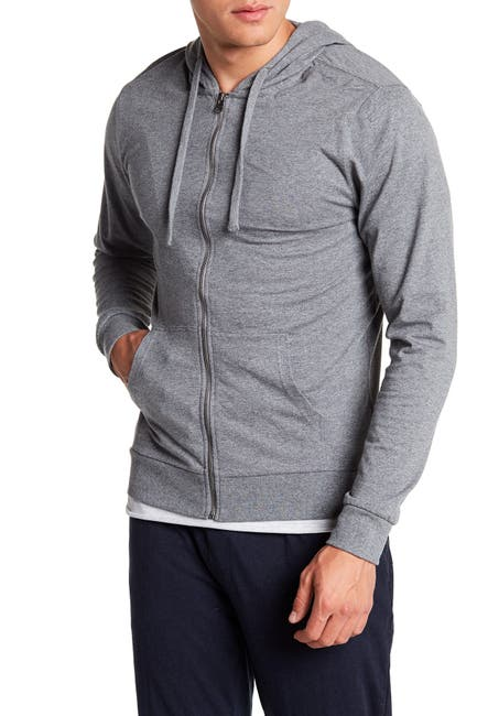 Image of Unsimply Stitched Lightweight Front Zip Lounge Hoodie