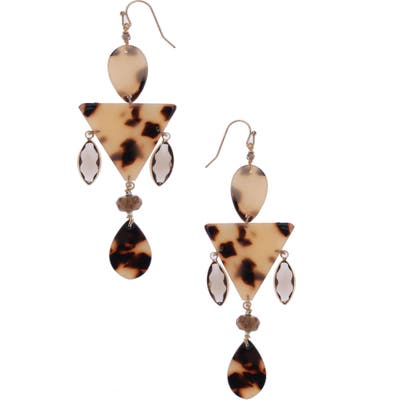Nakamol Design Geometric Drop Earrings