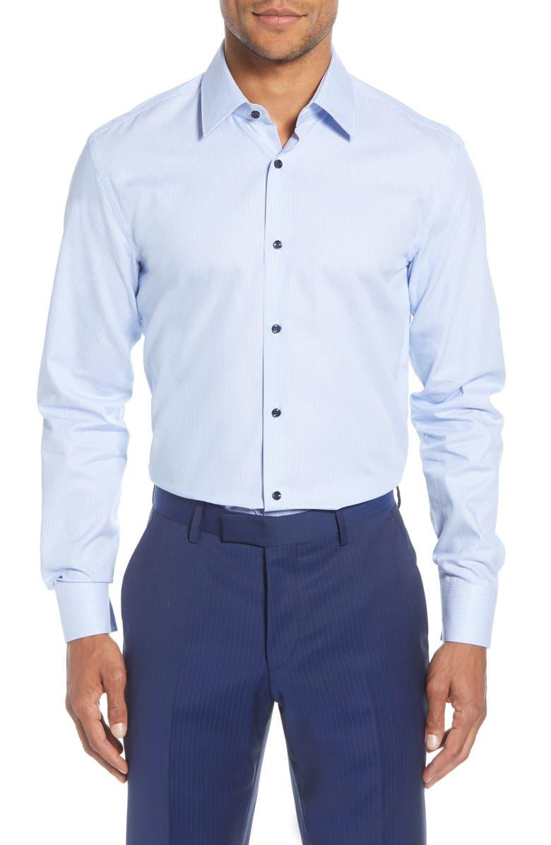 BOSS Jano Slim Fit Dress Shirt, Main, color, BLUE