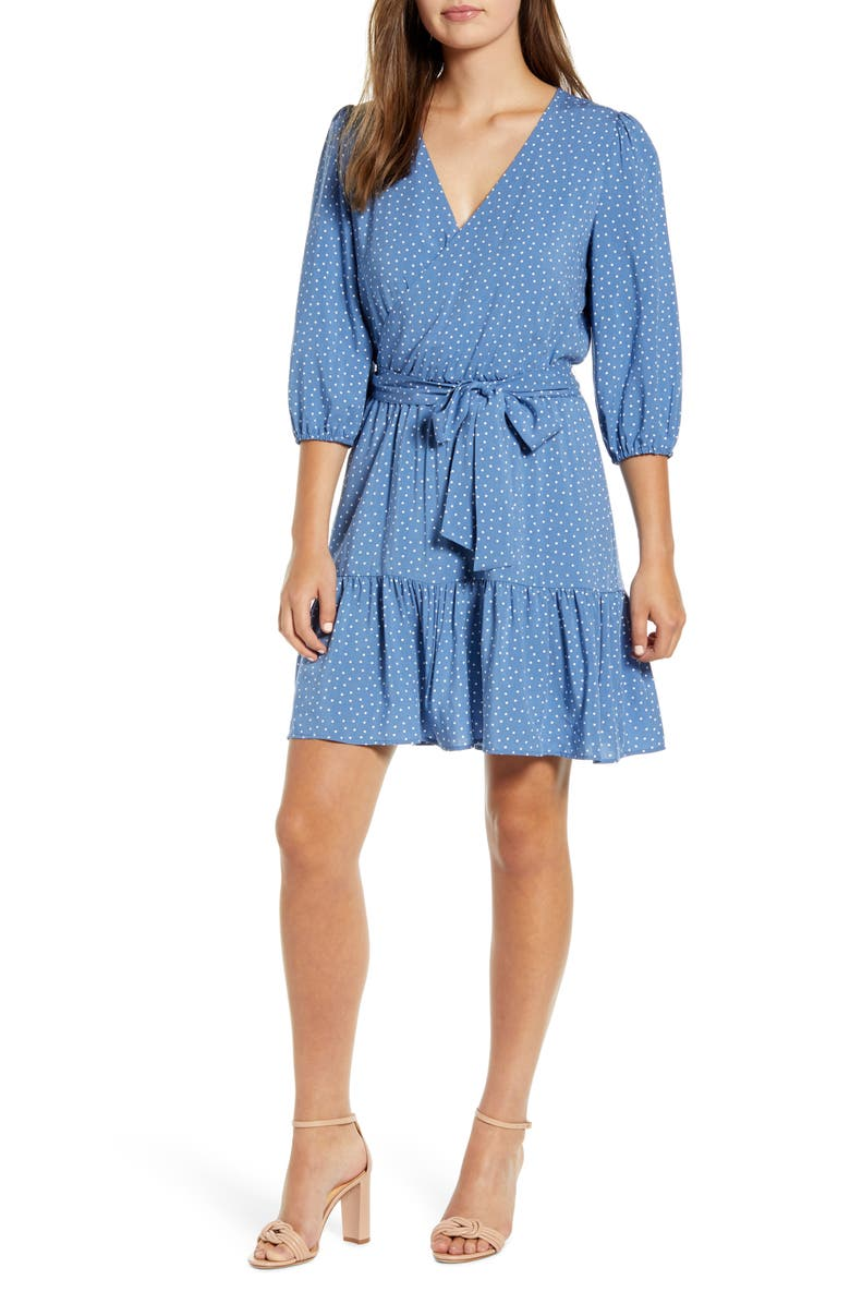 GIBSON x The Motherchic Paloma Woven Wrap Dress, Main, color, 454