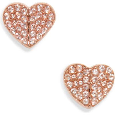Kate Spade New York Heart To Heart Mini Pave Stud Earrings