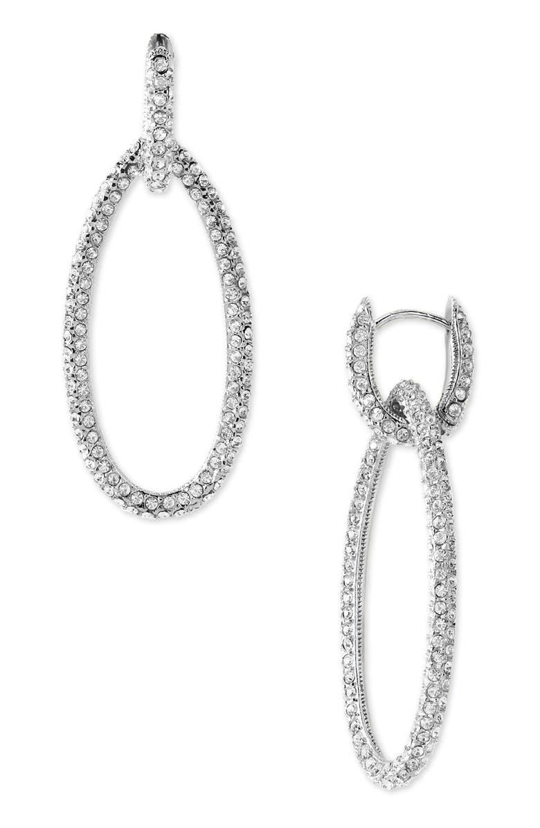 NADRI Pavé Oval Drop Earrings, Main, color, 041