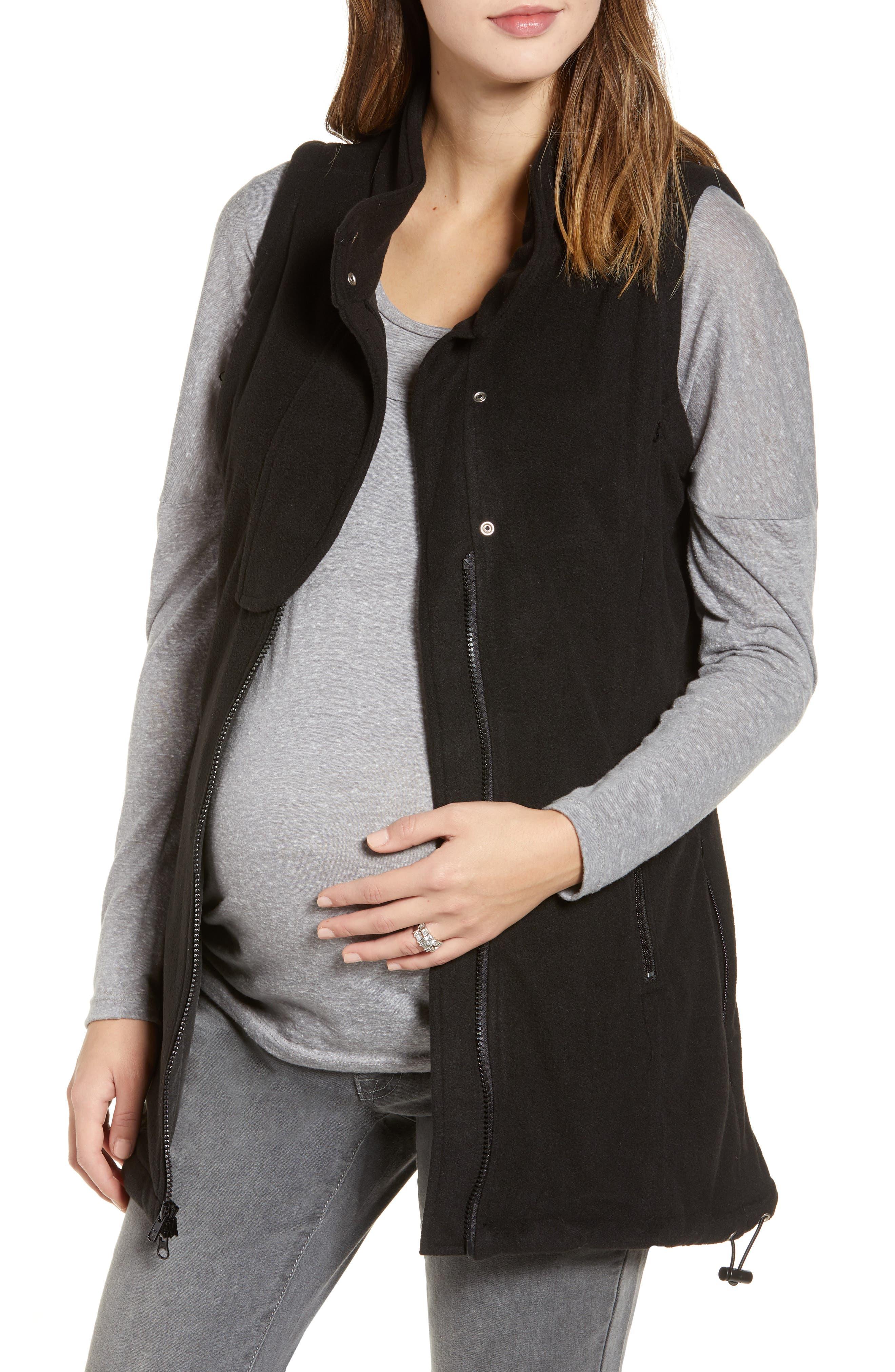 ,                             Booker Maternity Vest,                             Alternate thumbnail 4, color,                             BLACK
