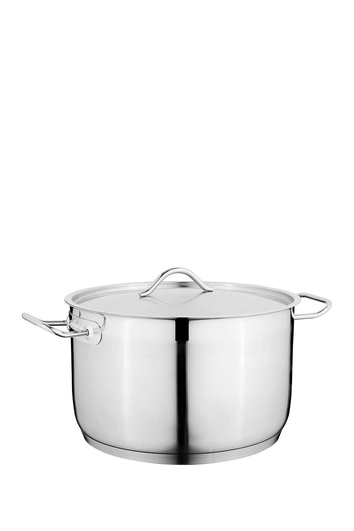 Image of BergHOFF Silver Hotel 11qt. Stainless Steel Covered Casserole
