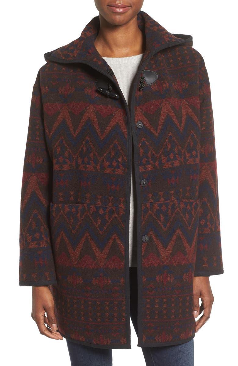 KENSIE Teddy Duffle Coat, Main, color, 288