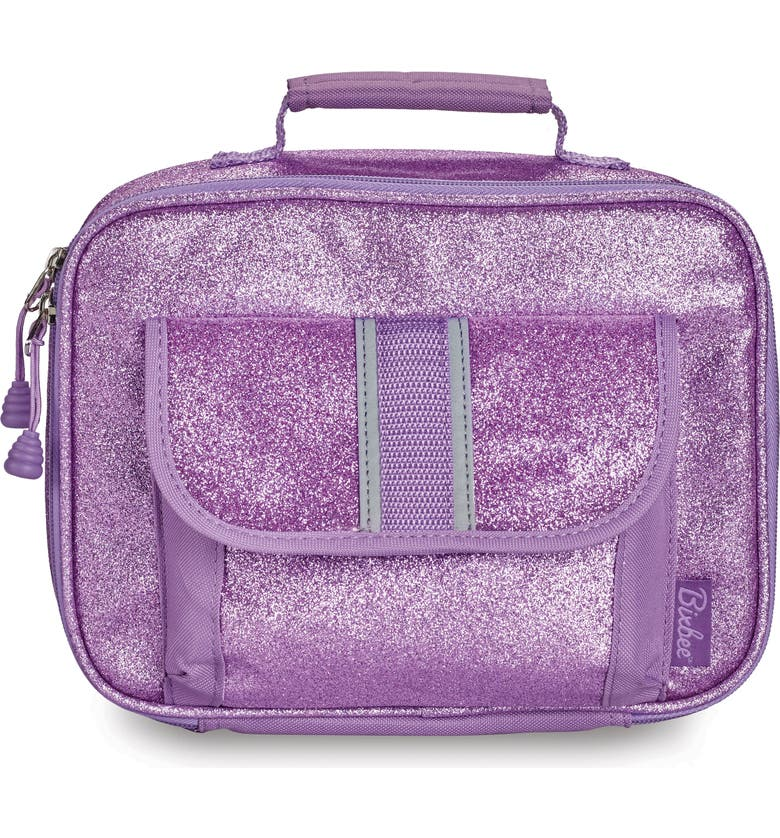 BIXBEE Purple Sparkalicious Water Resistant Lunchbox, Main, color, PURPLE