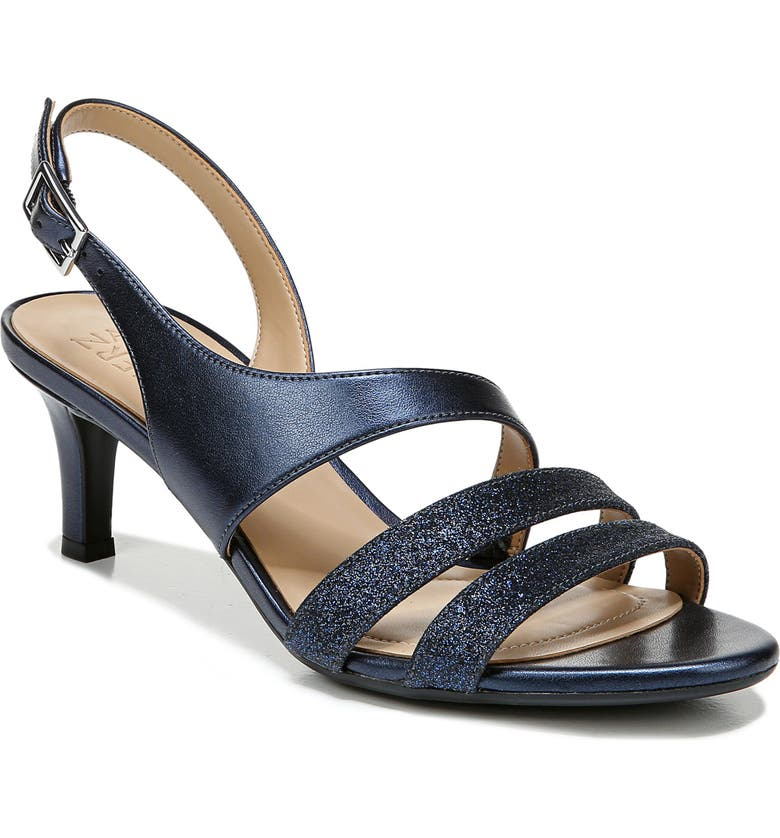 NATURALIZER Taimi Sandal, Main, color, NAVY METALLIC FAUX LEATHER