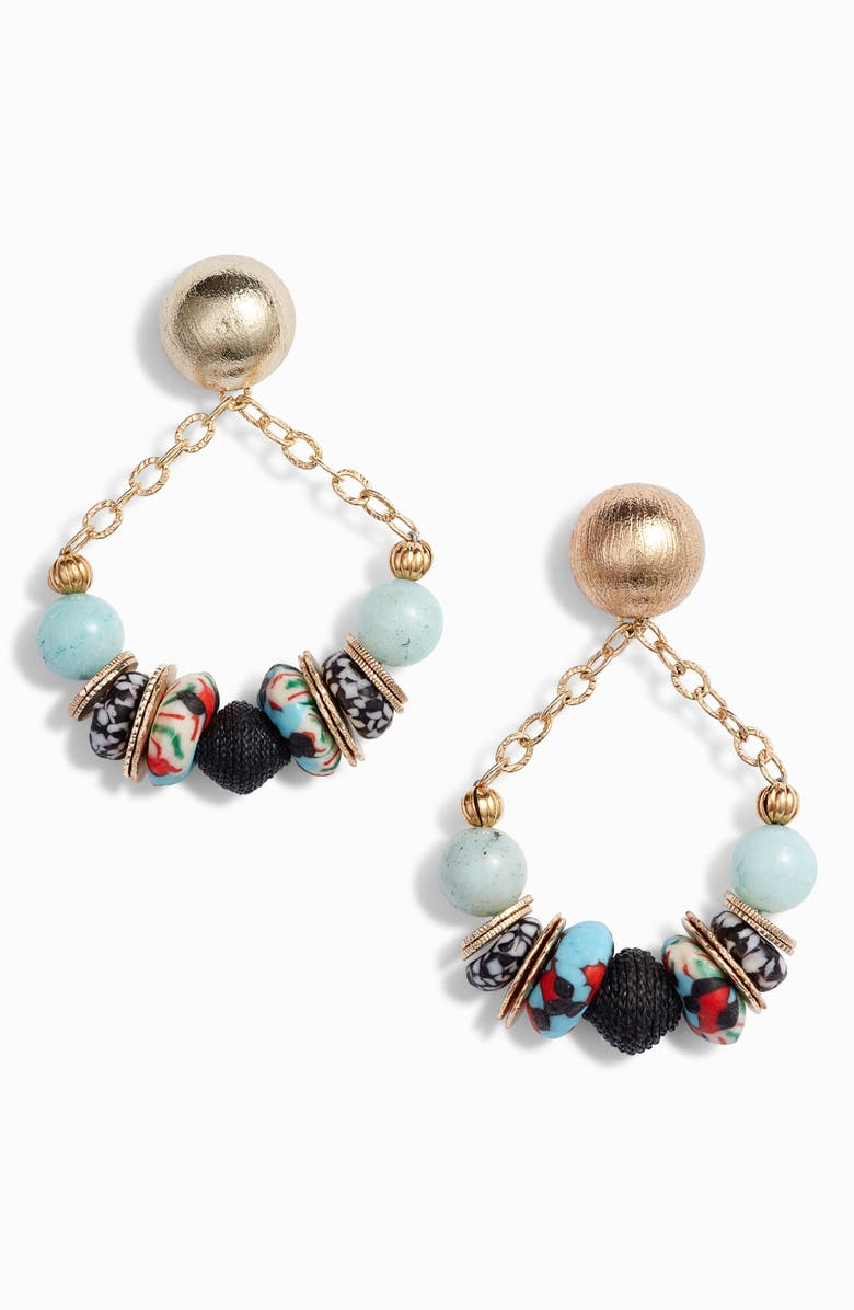 AKOLA Zain Drop Earrings, Main, color, BLUE/ MULTI