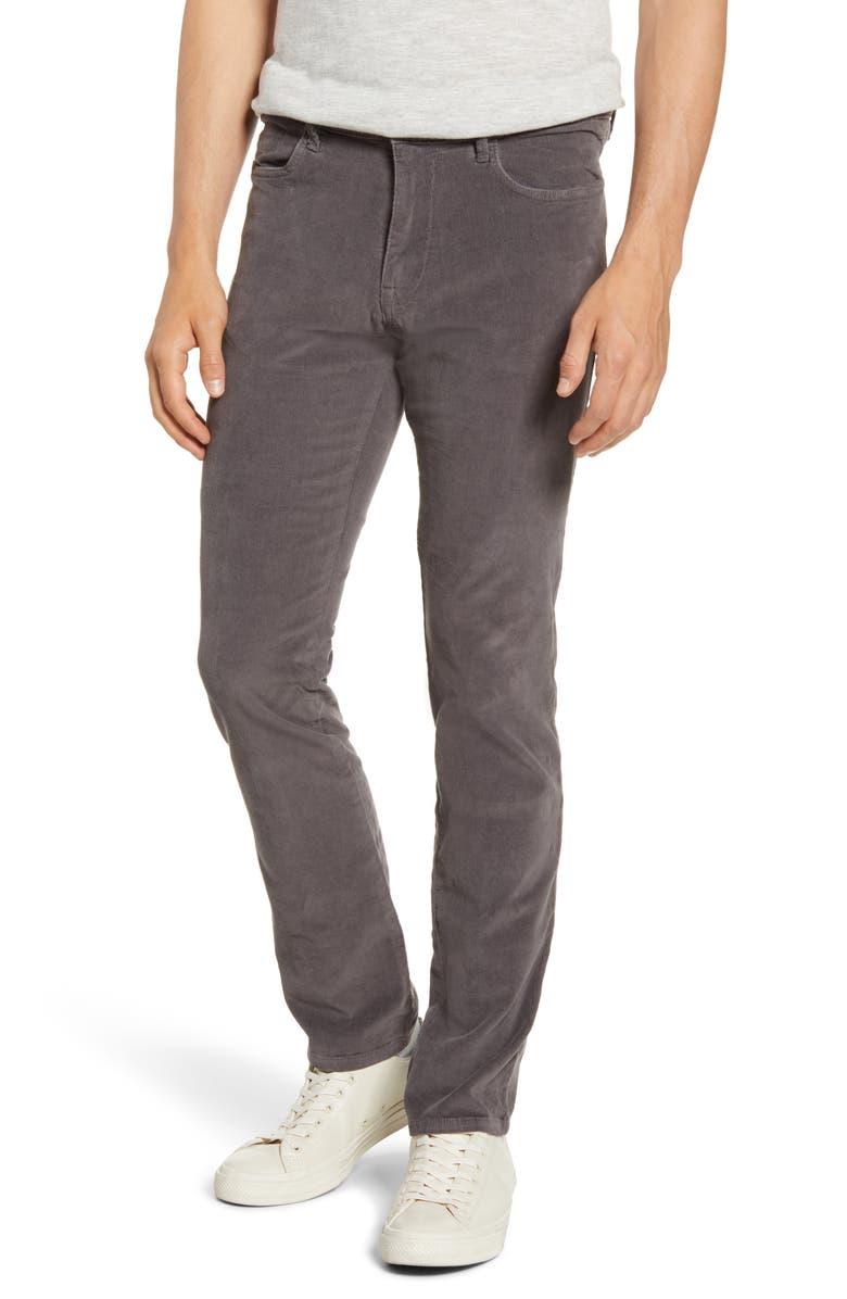 VINTAGE 1946 Modern Fit Stretch Corduroy Pants, Main, color, CHARCOAL
