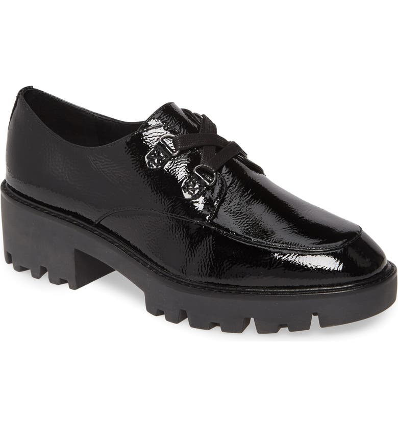 DONALD PLINER Emill Platform Loafer, Main, color, BLACK LEATHER