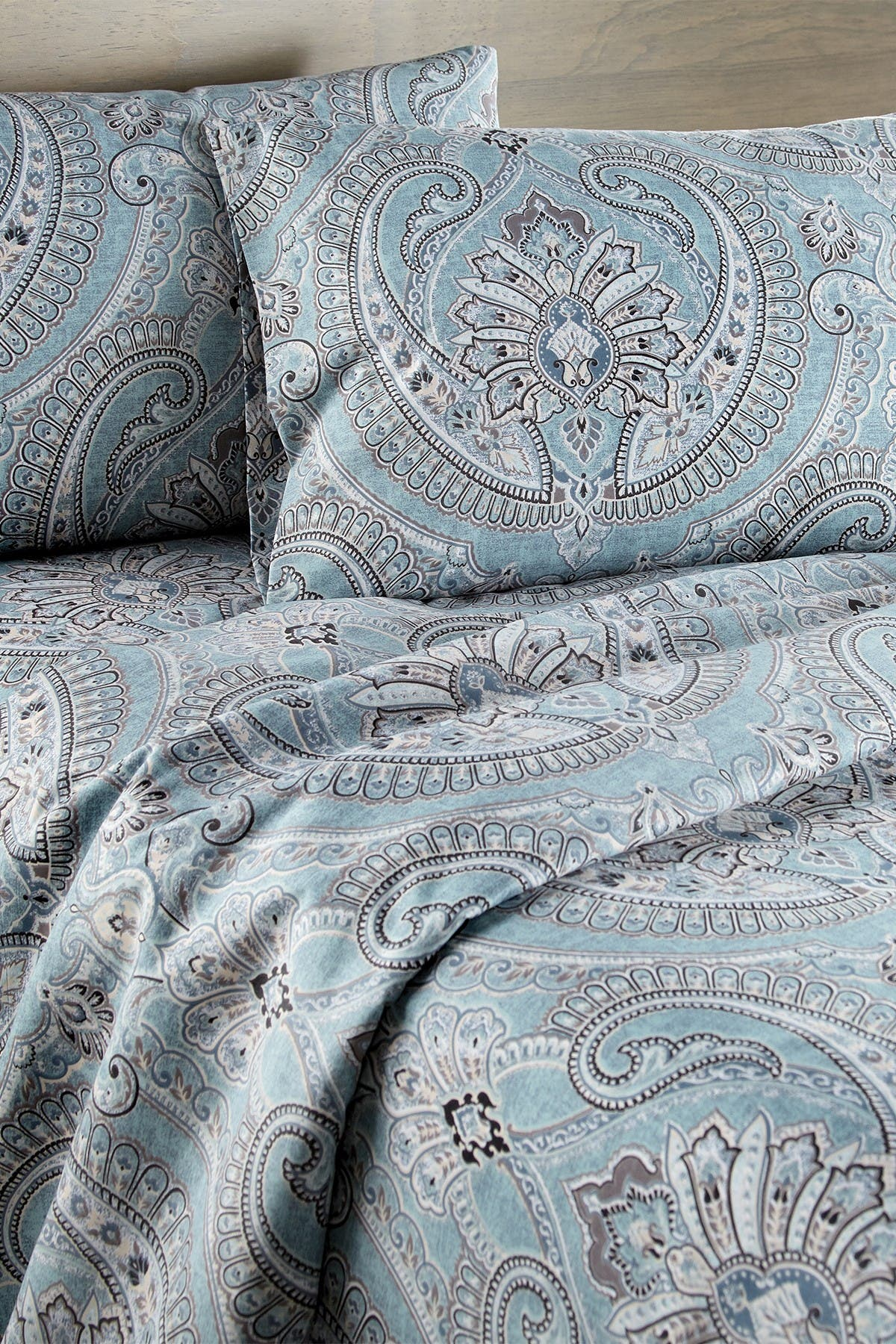 Image of SOUTHSHORE FINE LINENS Full Sized Pure Melody Sheet Set - Aqua