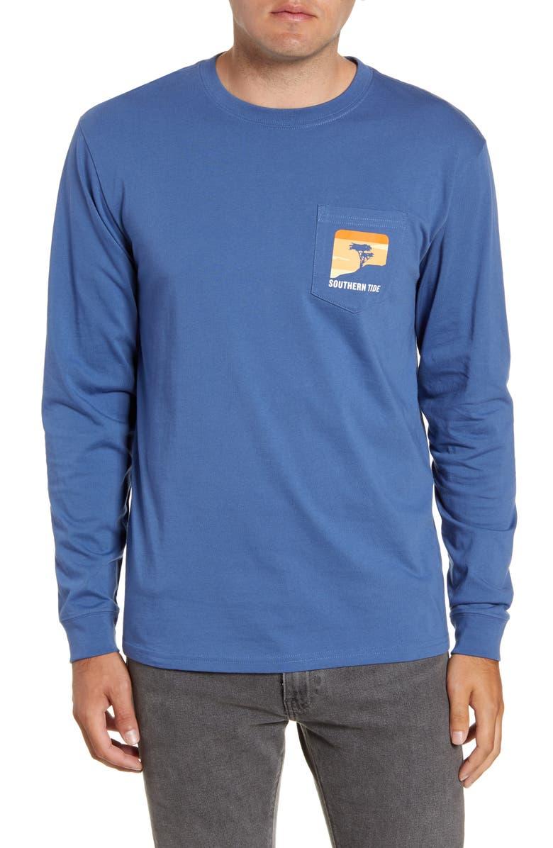 SOUTHERN TIDE Cliff Scene Graphic T-Shirt, Main, color, SEVEN SEAS BLUE