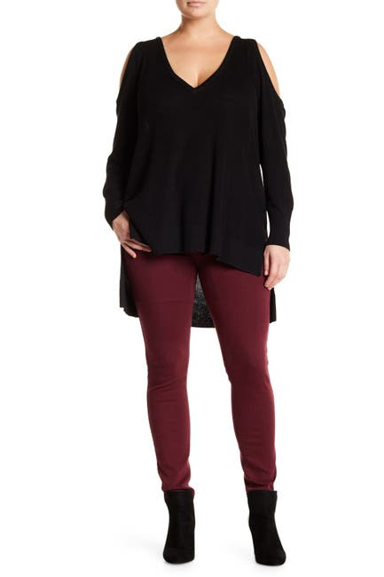 Image of 14th & Union Cold Shoulder Knit Sweater