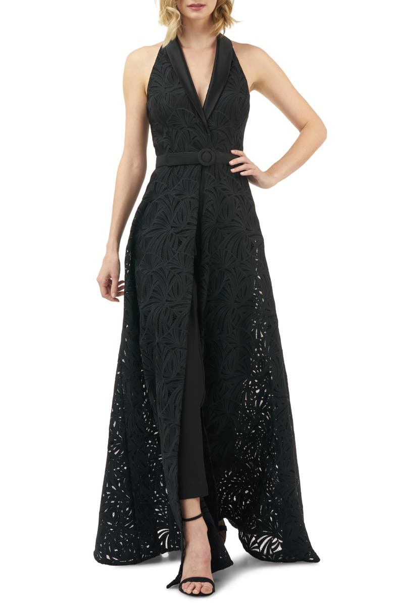 Nadia Lace Maxi Romper by Kay Unger